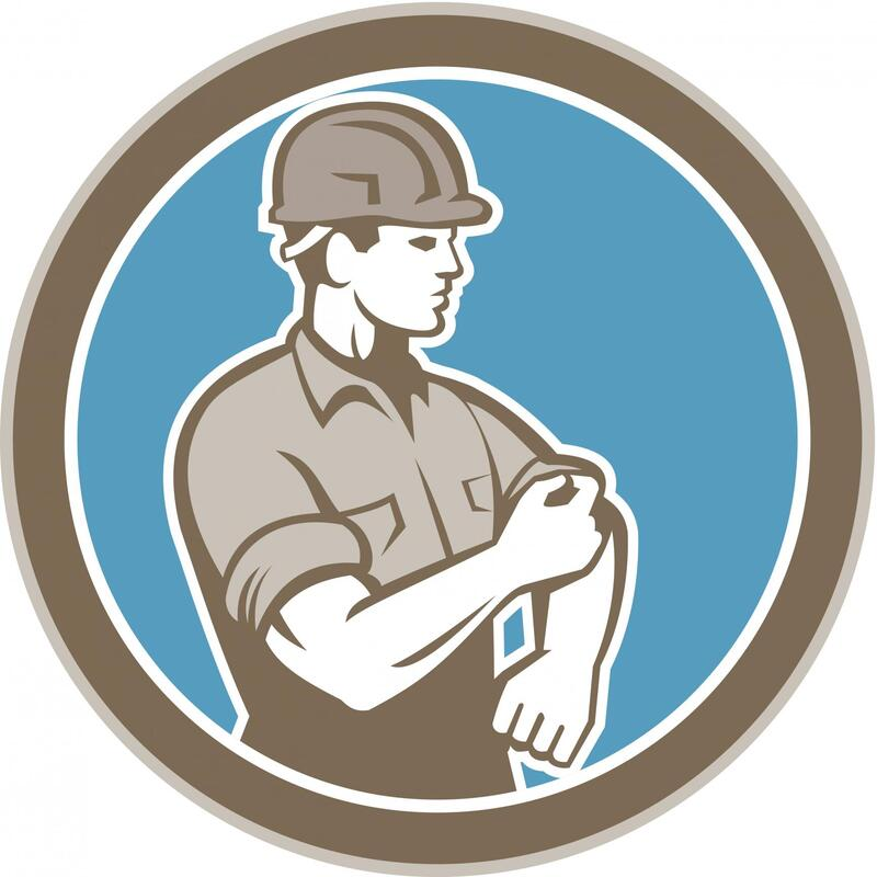 concrete contractor worker logo